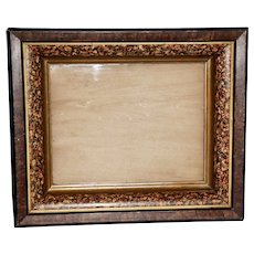 Victorian Frame with Faux Tortoise Shell and Burl Finish, Frame #3
