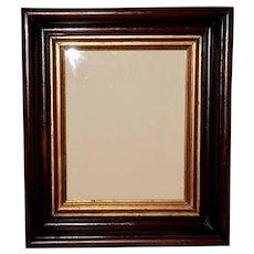 Victorian Walnut Frame with Ebonized Bands and Gilt Liner, Frame #4