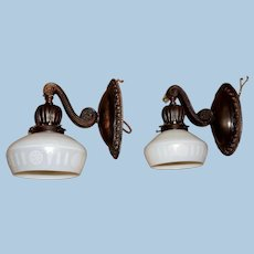 Pair of RARE Steuben Carder Calcite Wall Sconces, Circa 1910