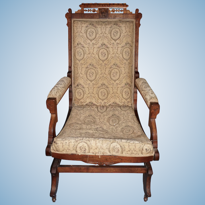 Amazing Eastlake Walnut Platform Rocker Frame Short Links Chair Design For Home Short Linksinfo