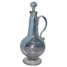 Early Blown Glass Carafe with Stopper