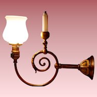 Colonial Revival Gas and Electric Wall Sconce