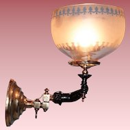 Gas Sconce in the Shape of an Extended  Arm