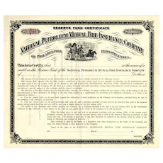 19__ National Petroleum Mutual Fire Insurance Bond Certificate