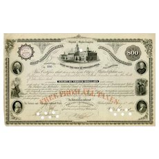 1884 City of Philadelphia Bond with 7 Vignettes
