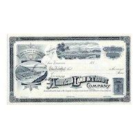 188_ American Land & Trust Co. Stock Certificate