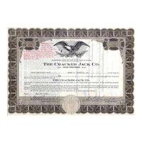 1940 Cracker Jack Co Stock Certificate (Scripophily)