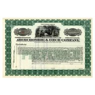 19__ Abercrombie & Fitch Stock Certificate