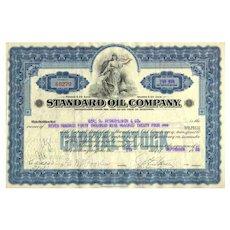 1928 Standard Oil Co Stock Certificate