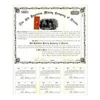 1868 Old Dominion Mining Co of Nevada Bond