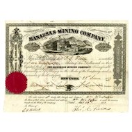 1853 Manassas Mining Stock