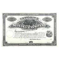 188_ Favorite Mining Co Stock Certificate