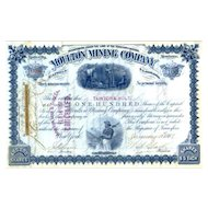 1887 Moulton Mining Stock Certificate signed by W. Clark