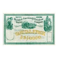 186_ Blacklick & Conemaugh Petroleum & Mining Stock