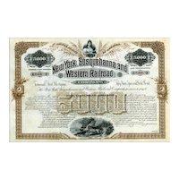 18__ New York Susquehanna & Western Bond Certificate