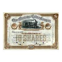 1887 Ohio & Mississippi RW Stock
