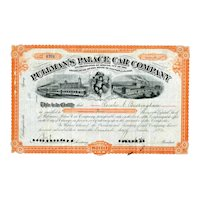 1884 Pullman's Palace Car Stock Certificate signed by Horace Porter