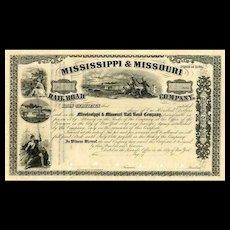 18__ Mississippi & Missouri RR Stock