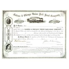 186_ Galena & Chicago Union RR Stock Certificate