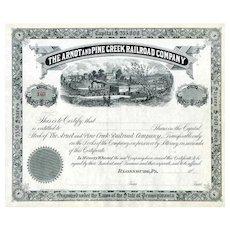 18__ Arnot & Pine Creek RR Stock Certificate