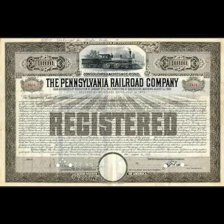 1955 Pennsylvania RR Co Registered Bond