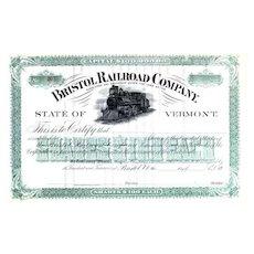 19__ Bristal RR Stock Certificate