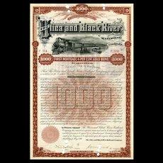 1890 Utica & Black River RR Bond
