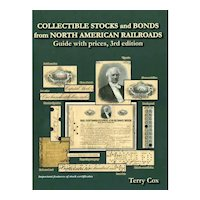 Cox 3rd edition of Collectible Stocks & Bonds of  North American Railroads