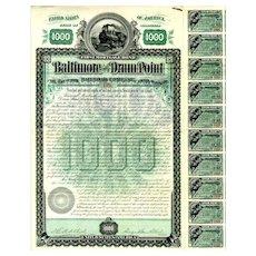 1888 Baltimore & Drum Point RR Bond
