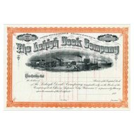 188_ Lehigh Dock Co Stock Certificate