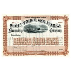 18__ Puget Sound & Alaska Steamship Co Stock Certificate