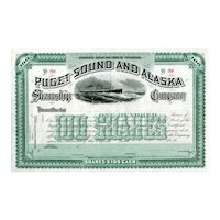 18__ Puget Sound & Alaska Steamship Co Stock Certificate