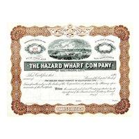 19__ Hazard Wharf Stock Certificate (Baltimore, MD)