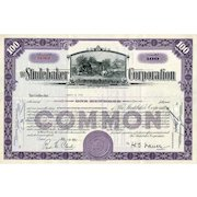 1950s Studebaker Corp Stock Certificate - Great Vignette of Studebaker's Blacksmith Shop