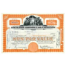 1950s Packard Motor Car Stock Certificate