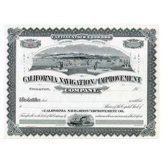 19__ California Navigation & Improvement Stock Certificate