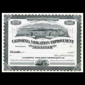 19__ California Navigation & Improvement Stock Certificate