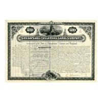 1887 Chesapeake & Delaware Canal Co. Bond