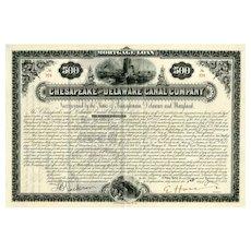 1887 Chesapeake & Delaware Canal Co. Bond