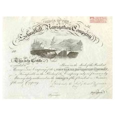 18__ Schuylkill Navigation Co. Stock Certificate