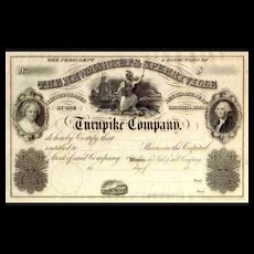18__ Newmarket & Sperryville Turnpike Stock Certificate