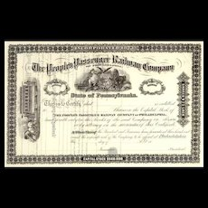 18__ People's Passenger RW Stock Certificate