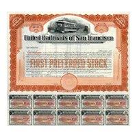 19__ United Railroads of San Francisco Preferred Stock Certificate