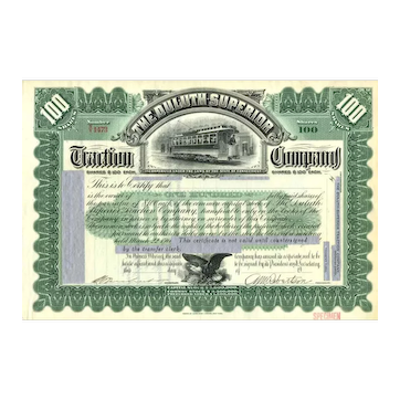 188_ Duluth-Superior Traction Stock Certificate