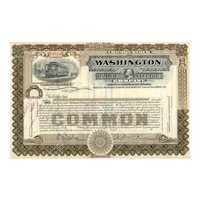 19__ Washington Railway & Electric Stock Certificate