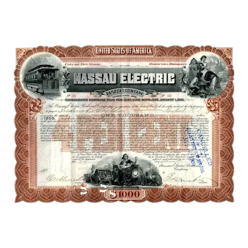 1903 Nassau Electric RR Bond