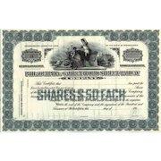 191_ Philadelphia & Garrettford Street RW Stock Certificate