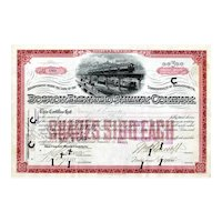1900 Boston Elevated RW Stock Certificate