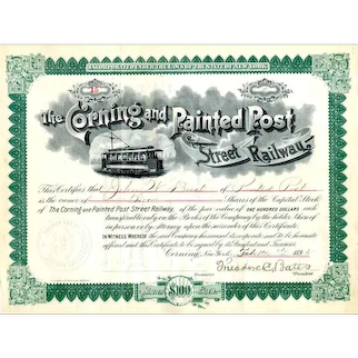 1895 Corning & Painted Post Street RW Stock
