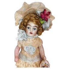 """Sweet Little 3 1/2"""" (swivel neck) miniature Dollhouse little girl doll"""
